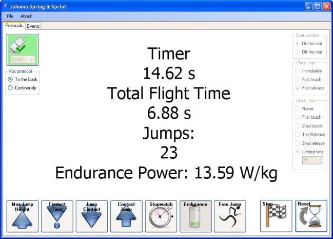 Endurance Jump, een snelle en eenvoudig meetmiddel voor sporters.