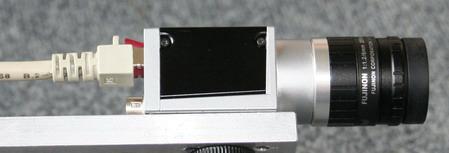 Onze camera, klein maar fijn, slechts 9 cm groot. Wel 400 fps.